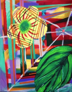 "LAUREN MITCHELL, Imagination on an Island, 2012, Acrylic on Canvas, 16″ X 24,"" $300"