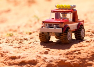 JASON CARLTON, Lego Jeep Captured on a Sandy Ledge