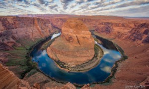 JASON CARLTON, Sunrise at Horseshoe Bend, $350