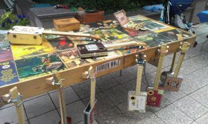 Bret Hanson, instruments for sale at Craft Lake City, taken form Hanson Music Works and Goods Facebook page