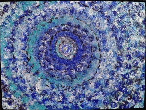 BILL REED, Botanicals #3 (Flowering Spiral Galaxy), acrylic, photo taken by Amourette Bradley