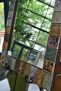 BRENT HALE, Garden Tile Mirror, ceramics, photo taken by Amourette Bradley